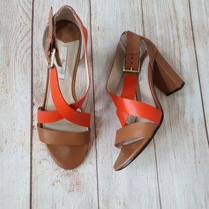 Boden Heels - real leather orange/brown